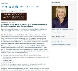 Dr. Atkin discusses the benefits of Juvederm Volbella XC.